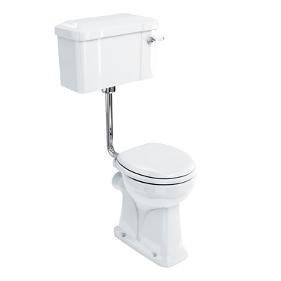 Burlington Regal Low Level Pan with Lever Cistern and Low Level Flush Pipe Kit