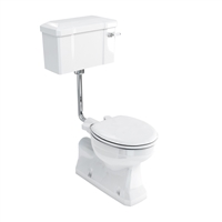 Burlington Concealed Bottom Outlet Low Level Pan with Rear or Bottom Entry Lever Cistern