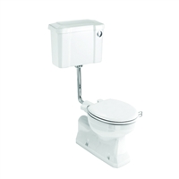 Burlington Concealed Bottom Outlet Low Level Pan with Rear or Bottom Entry Push Cistern