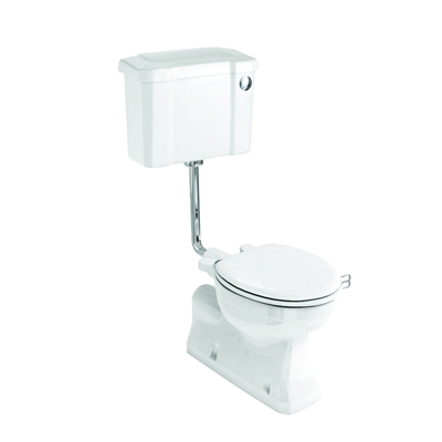 Burlington S-Trap Low Level Push Button Toilet - Various Finishes