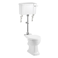 Burlington Medium-Level Toilet Including Standard Pan & Lever Cistern