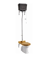Burlington High Level Toilet with Black Aluminium Cistern