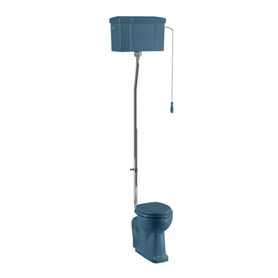 Burlington Alaska Blue High Level Toilet with Different Finishes