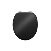 Burlington Chrome Gloss Black Soft Close Seat