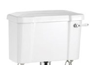 Burlington White Ceramic Cistern 510mm with Ceramic Lever