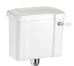 Burlington White Ceramic Cistern 440mm with Ceramic Lever