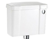 Burlington White Ceramic Cistern 510mm with Front Push Button