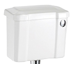 Burlington White Ceramic Cistern 440mm with Front Push Button