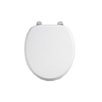 Burlington Chrome Matt White Soft Close Seat