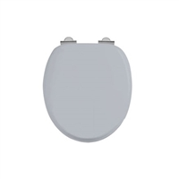 Burlington Chrome Classic Grey Soft Close Seat