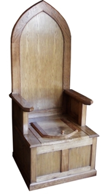 TRTC Wooden Throne Toilet With Matching Cistern