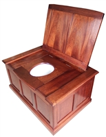 TRTC Wooden Thunderbox Toilet with Matching Cistern