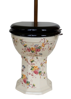 TRTC Multicoloured Floral Toilet Pan