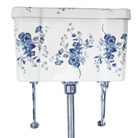 TRTC Victorian Floral High Level Cistern