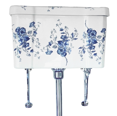 TRTC Blue & White Floral High Level Cistern