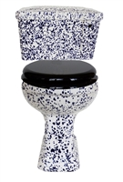 TRTC Blue Speckle Close Coupled Toilet