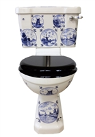 TRTC Blue & White Delft Close Coupled Toilet