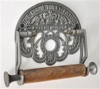 The Crown Cast Iron Toilet Roll Holder