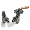 Abbey Pewter Manual Throttle Radiator Valve