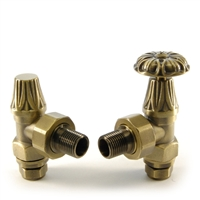 Abbey Old English Brass Manual Radiator Valves