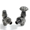 Abbey Pewter Manual Radiator Valve