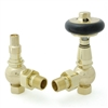 Amberley Thermostatic Radiator Valves - Polished Brass (Angled TRV)