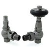 Amberley Thermostatic Radiator Valves - Black Nickel (Angled TRV)