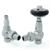 Amberley Chrome Thermostatic Angled Radiator Valves (TRV)