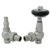 West Amberley Thermostatic Radiator Valves - Satin Nickel (Angled TRV)