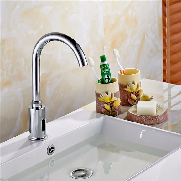 gold tone bathroom sink faucets. Wella Goose Neck Chrome Sensor Faucet  Buy B510 Also Available