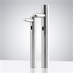 BathSelect Tall Contemporary Automatic Commercial Sensor Faucet and Matching Soap Dispenser