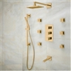 Shower System On Sale Now Gold Tone Finish Napoli LED Shower Set designer massage shower system