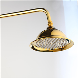 8 Inch Round Gold ,Rose Gold,Chrome, Brown Bathroom Solid Brass Copper Rain Shower Head