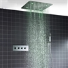 "Square LED Light Ceiling  Shower With 20"" SPA Spray Concealed"