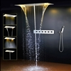 LED Light Ceiling Rainfall Shower Set With Hot and Cold Water Mixer