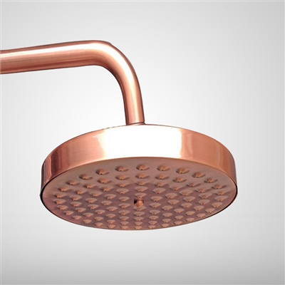 Juno Antique Red Copper 8 inch Rainfall Shower Head