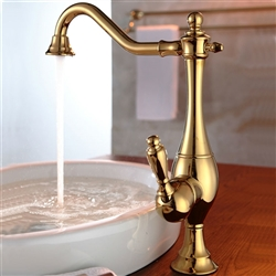 Leo Vintage Antique Gold Single Hole Bowel Faucet