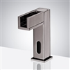 BathSelect Brushed Nickel Contemporary Commercial Automatic Waterfall Sensor Faucet
