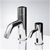 Brass Chrome Commercial Automatic Motion Sensor Faucet with Soap Dispenser