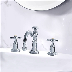 Brass Dual Handle Wash Basin Faucet