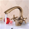 Rubeno Antique Brass Sink Faucet