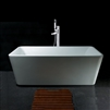 "JunoShowers 67"" FreeStanding White Color Acrylic Bathtub with Tub Filler Faucet"