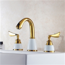 Fontana Dual Handle Bath Faucet - Chrome and Gold Finish