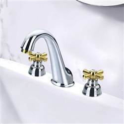 Leo Dual Handle  Brass Chrome Finish Faucet