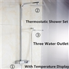 Fontana  Digital Thermostatic Shower Set Thermostatic Thermostatic Mixing Valve With Display Bathroom Digital Thermostatic Shower Set