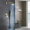 Génial Gold Brass Rainfall Shower Set with Waterfall Tub Spout & Handshower