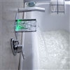 LED RGB Single Handle Widespread Waterfall Copper Pull-Out Bathroom Faucet