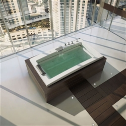"High-tech luxury 72"" X 42"" Acrylic Drop-In Bathtub Optional Whirlpool"