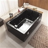 New 2 Person Jetted Whirlpool Massage Hydrotherapy Bathtub Tub Indoor - BLACK