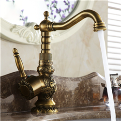 Venice Antique Brass Single Handle Faucet